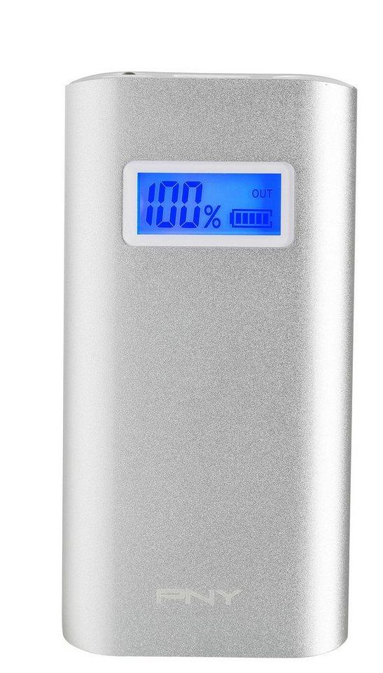 PNY mobiler Akku »Powerpack Alu Digital 5200 silber« in silber
