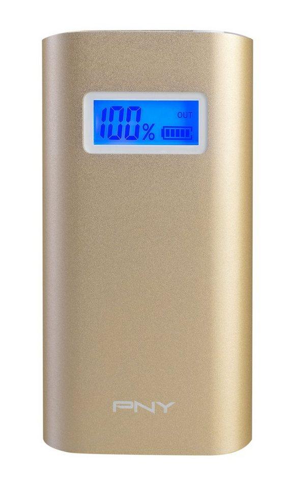 PNY mobile Powerbank »Powerpack Alu Digital 5200 gold« in gold