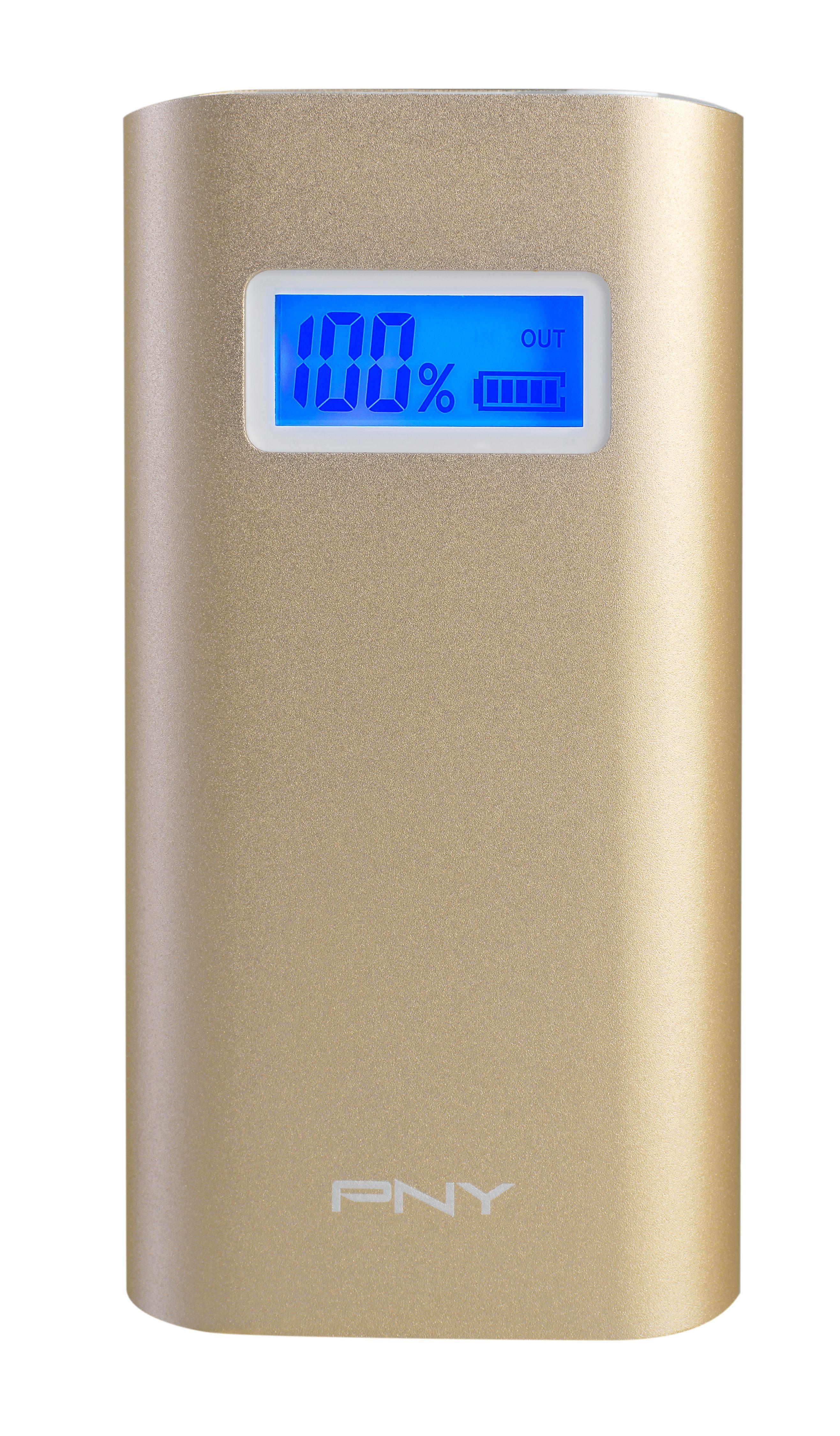 PNY mobile Powerbank »Powerpack Alu Digital 5200 gold«