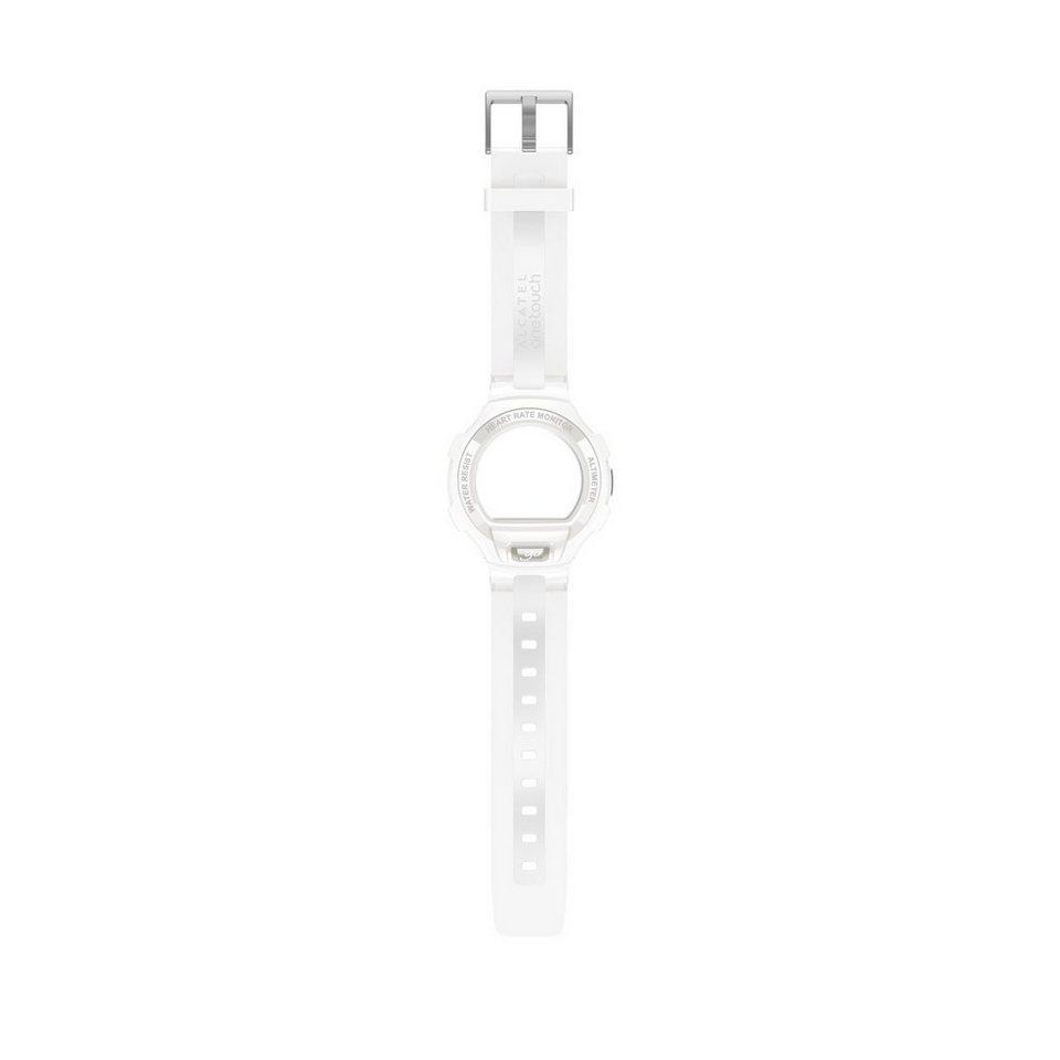 Alcatel Ersatz-/Wechselarmband »Armband GO watch GSM03« in Weiß-Hellgrau