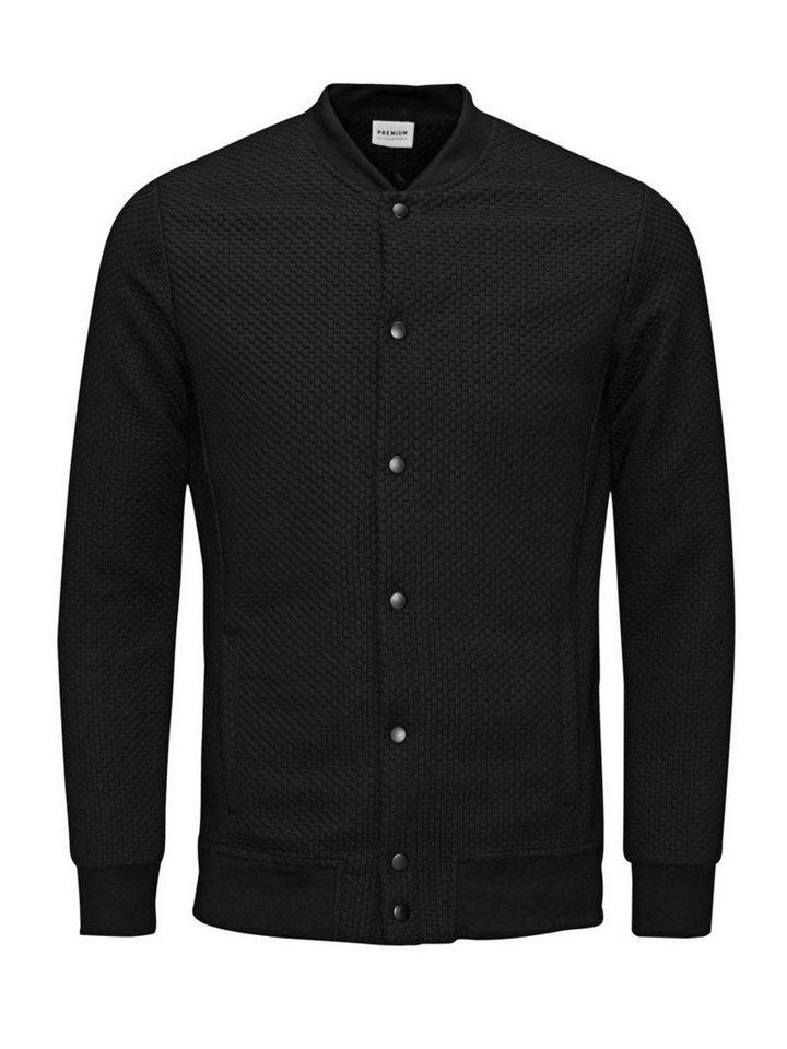 Jack & Jones Baseball- Sweatshirt in Black