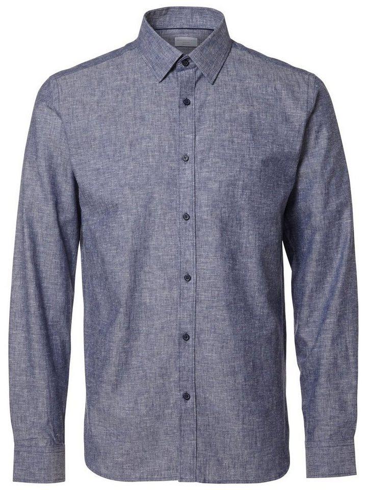 Selected Regular fit Hemd in Blue Indigo