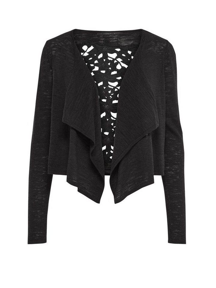 Only Detailliert drapierter Strick-Cardigan in Black