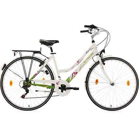 Cityrad, Damen, KS Cycling, »Papilio«, weiß, 26/28 Zoll 6 Gang Shimano Tourney, V-Brakes