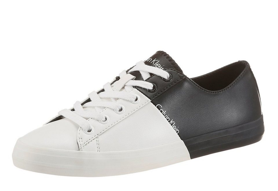 Calvin Klein »Byron« Sneaker Color Blocking in weiß-schwarz