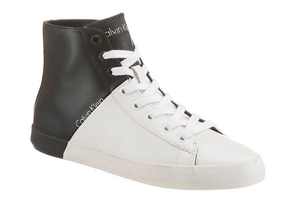 Calvin Klein »Buck Matte« Sneaker Color Blocking in schwarz-weiß
