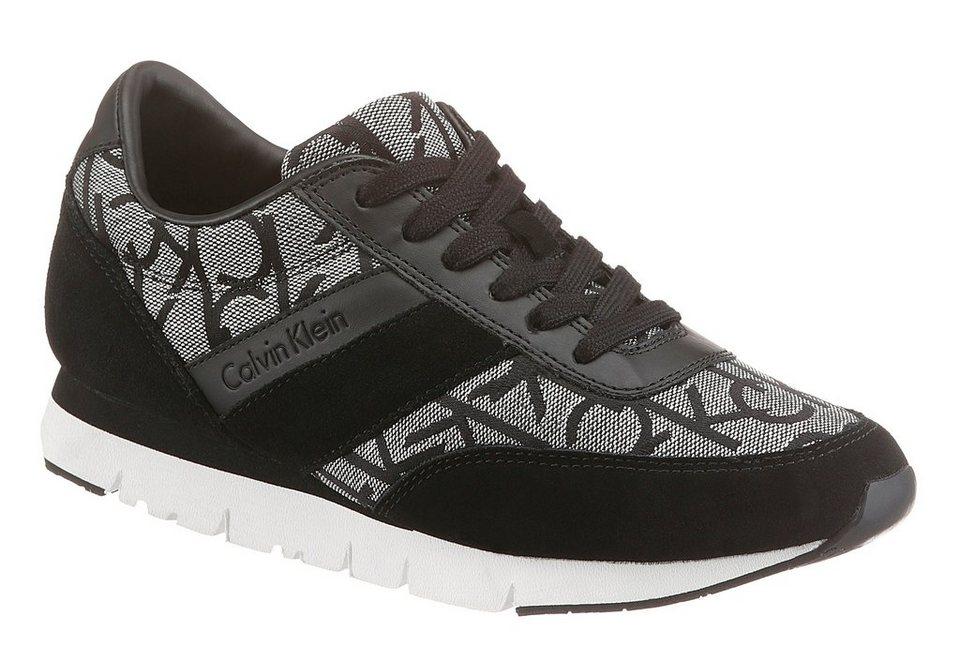 Calvin Klein Sneaker mit modischen Logo-Print in schwarz-silberfarben