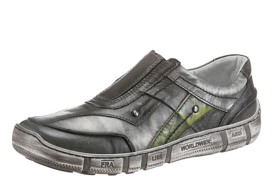 KACPER Slipper in toller Farbkombi in grau-grün-used