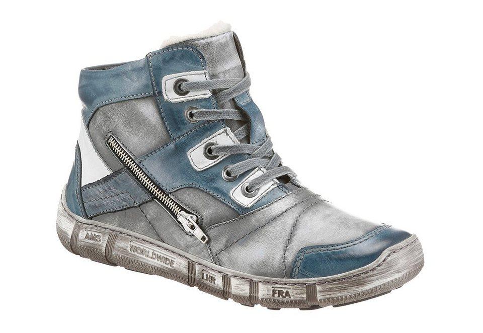 KACPER Winterstiefel im Used Look in grau-blau-used