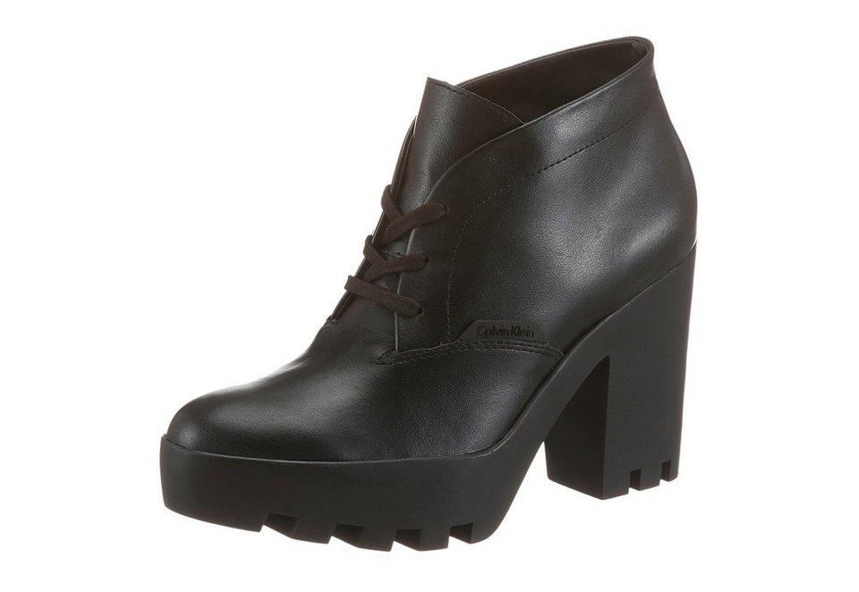 Calvin Klein High-Heel-Stiefelette in schwarz
