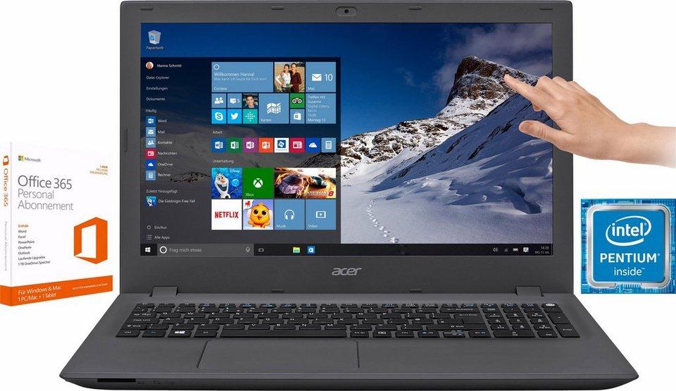 Acer Aspire E5-573-P4D3 Notebook, Intel® Pentium™, 39,6 cm (15,6 Zoll), 1000 GB Speicher in schwarz