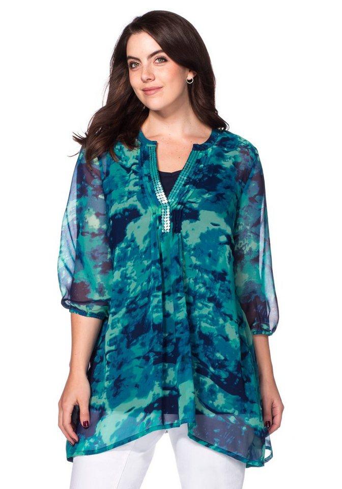 sheego Style Zipfeltunika in meeresfarben