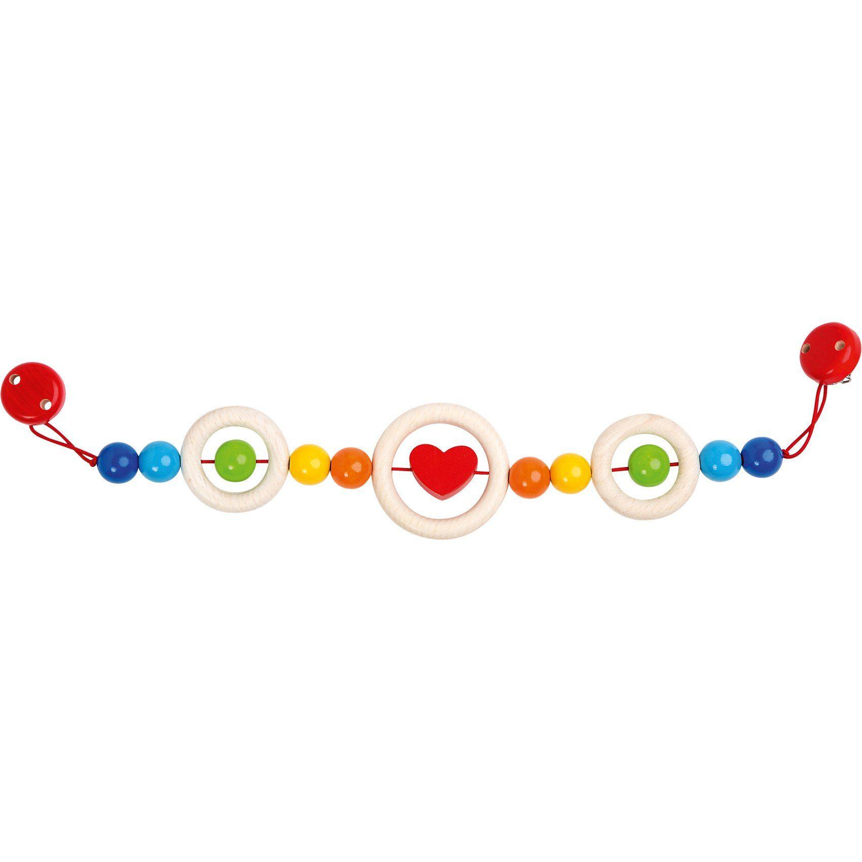 Rotho Babydesign Holz-Kinderwagenkette Regenbogen