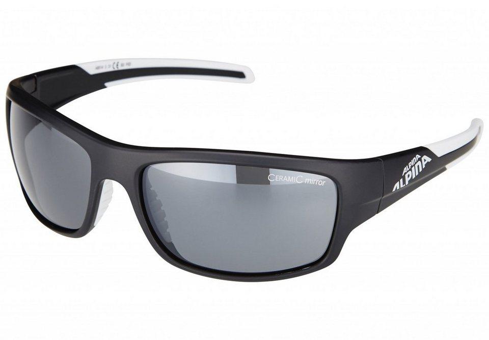 Alpina Radsportbrille »Testido« in schwarz