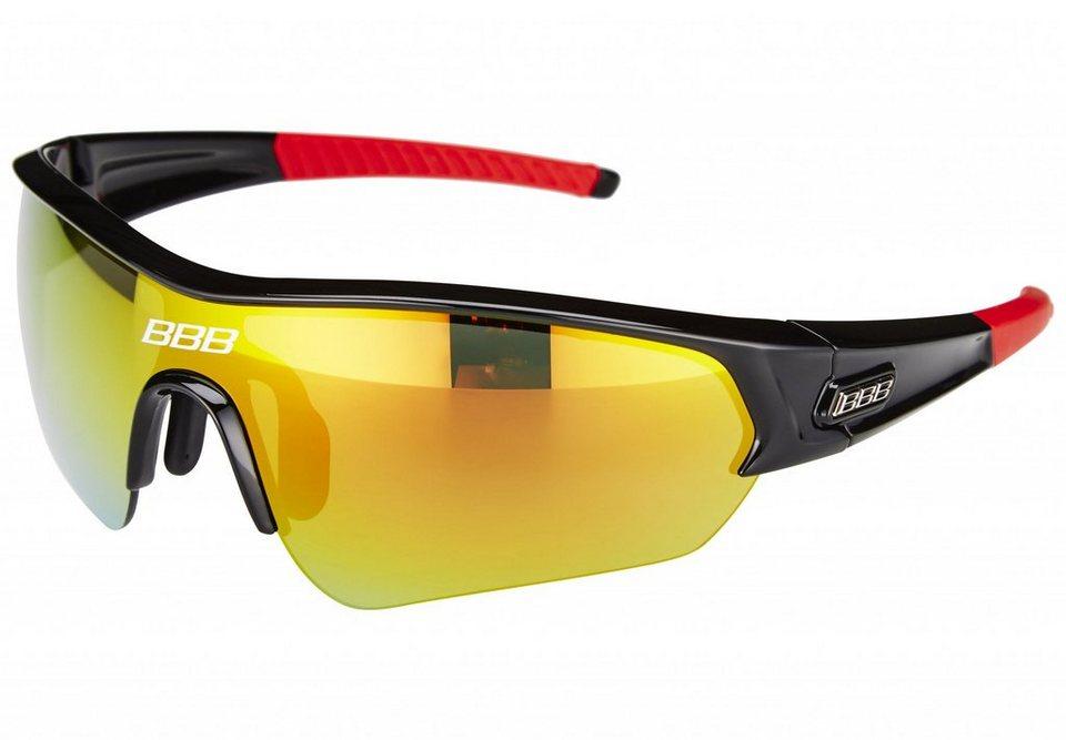 BBB Radsportbrille »Select MLC BSG-43 schwarz/rauchrot« in schwarz
