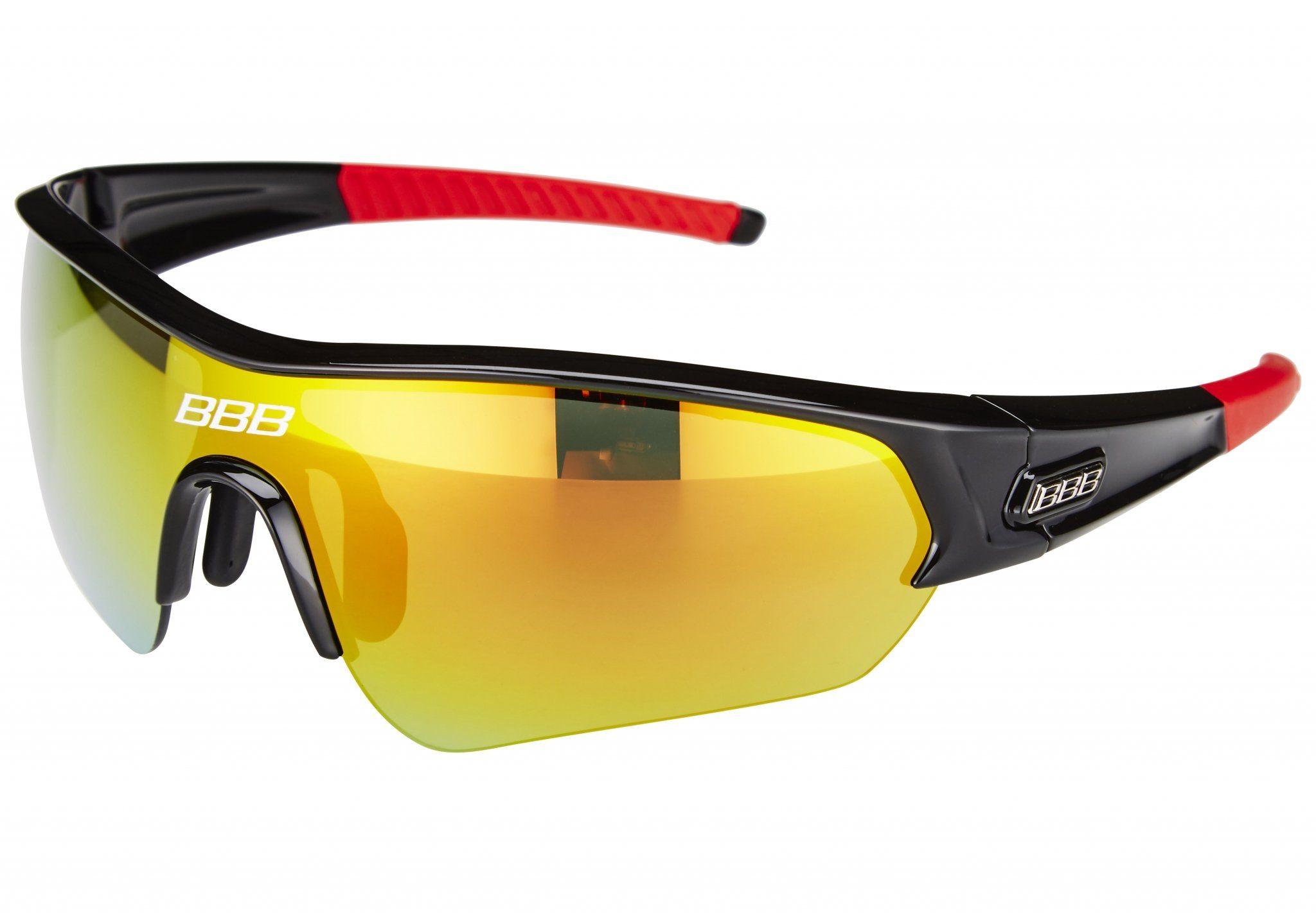 BBB Radsportbrille »Select MLC BSG-43 schwarz/rauchrot«
