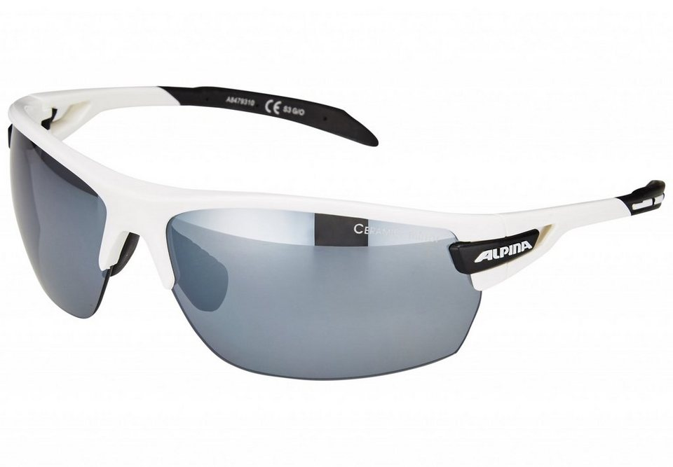 Alpina Radsportbrille »Tri-Scray« in weiß