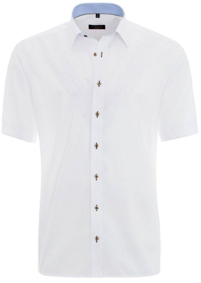 ETERNA Kurzarm Hemd »MODERN FIT« in weiß