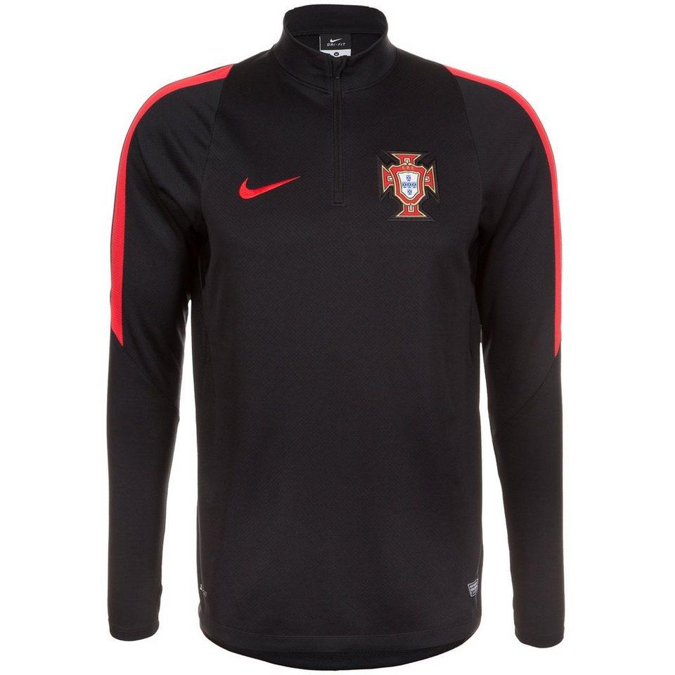 NIKE Portugal Drill Trainingsshirt EM 2016 Herren in schwarz / rot