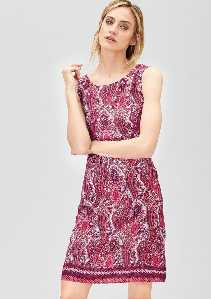 s.Oliver PREMIUM Zartes Kleid mit Ornament-Muster in paisley ornament pin