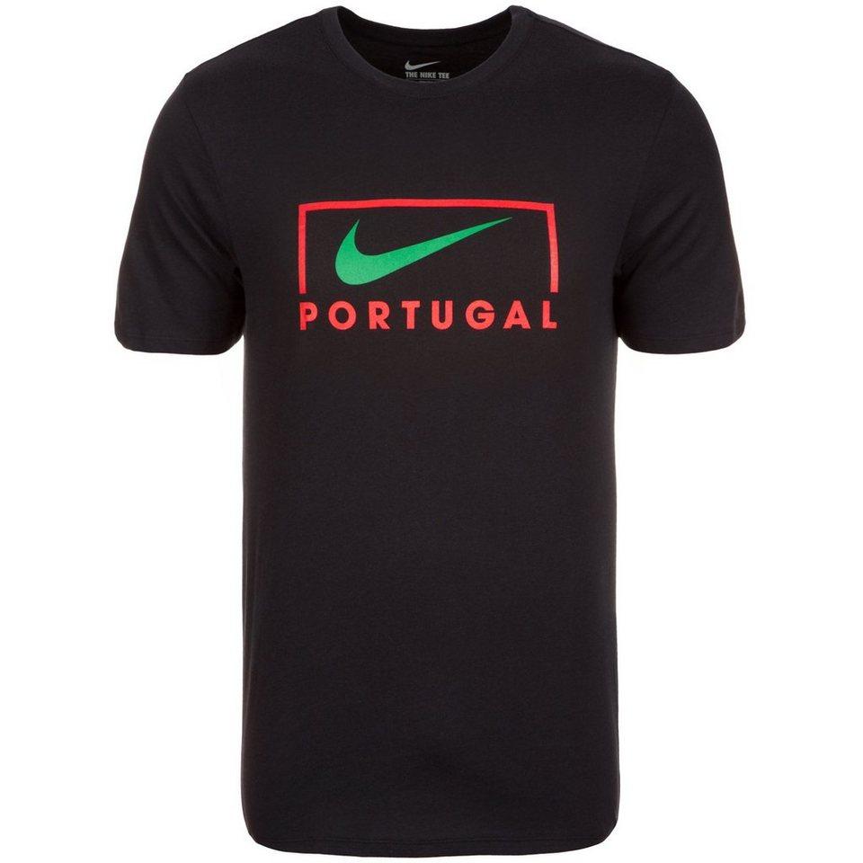 NIKE Portugal EC16 Swoosh T-Shirt EM 2016 Herren in schwarz / rot / grün