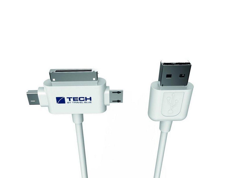 Travel Blue 3-in-1 - USB 2.0 Daten-/Sync- und Ladekabel