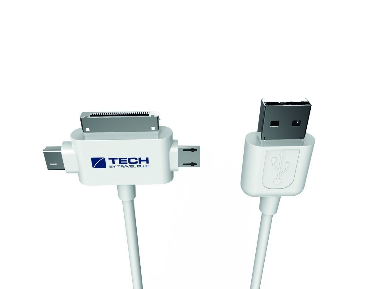 Travel Blue 3-in-1 - USB 2.0 Daten-/Sync- und Ladekabel