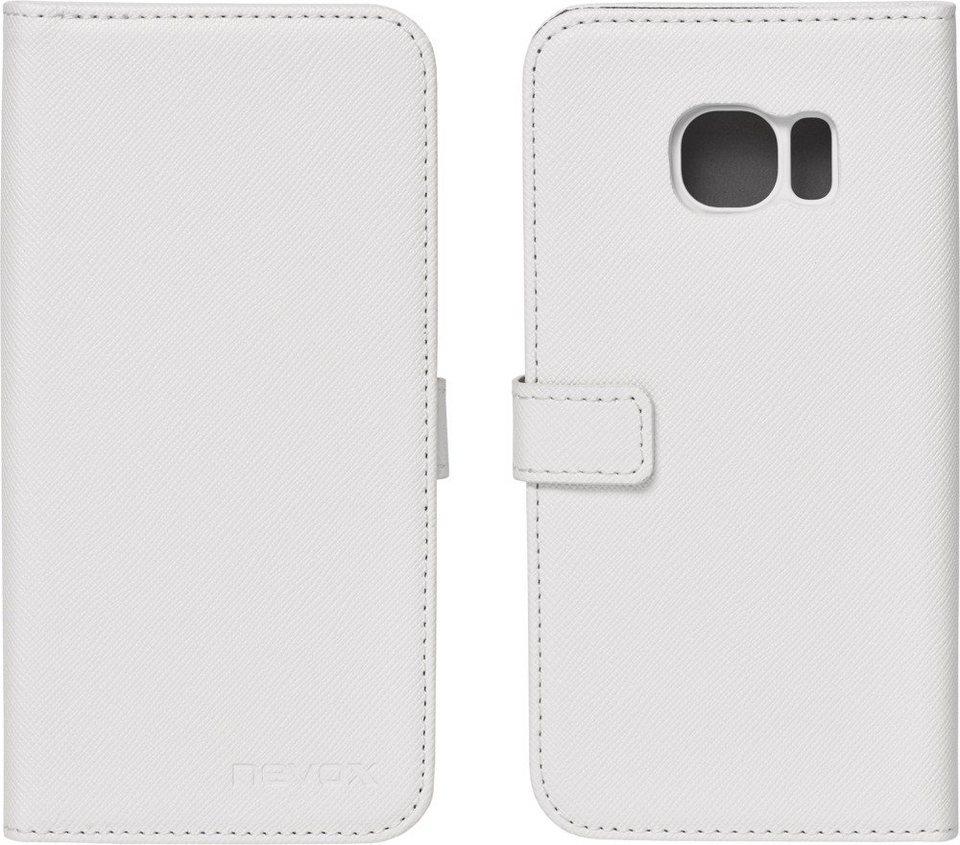 nevox Hochwertiges FlipCover passend für das Galaxy S7 »ORDO« in weiß