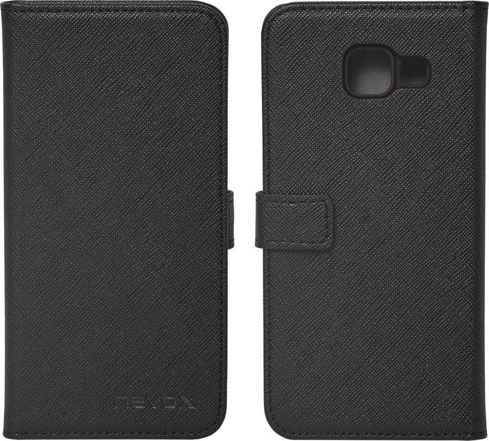 nevox Hochwertiges FlipCover passend für das Galaxy A3 (2016) »ORDO« in schwarz