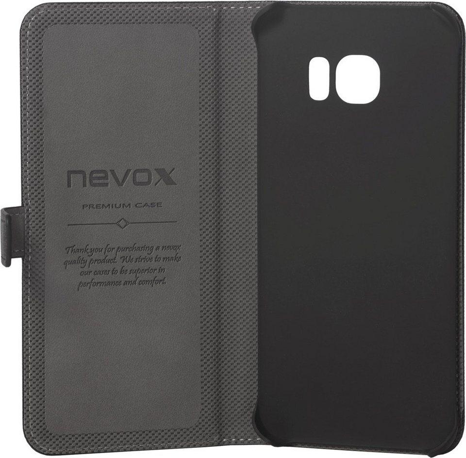 nevox Hochwertiges FlipCover passend für das Galaxy S7 edge »ORDO« in schwarz