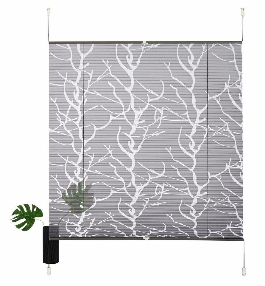 plissee ohne bohren grau my blog. Black Bedroom Furniture Sets. Home Design Ideas