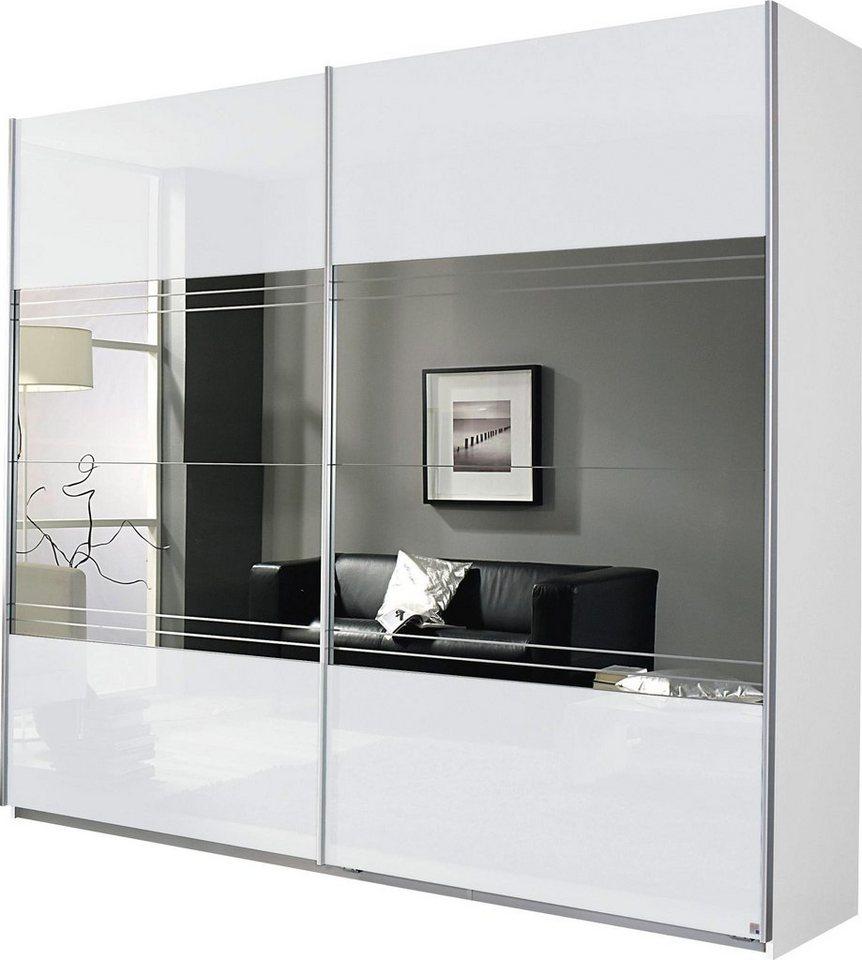 Schwebetürenschrank weiß grau  Places of Style Schwebetürenschrank mit Spiegel   OTTO
