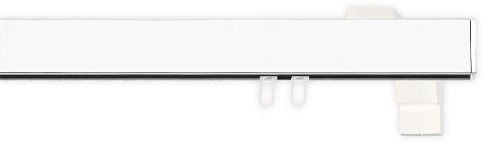 Gardinenstange 1-, indeko, »Bern«, 2- oder 3-läufig nach Maß, 35x14 mm mit Innenlauf in weiss