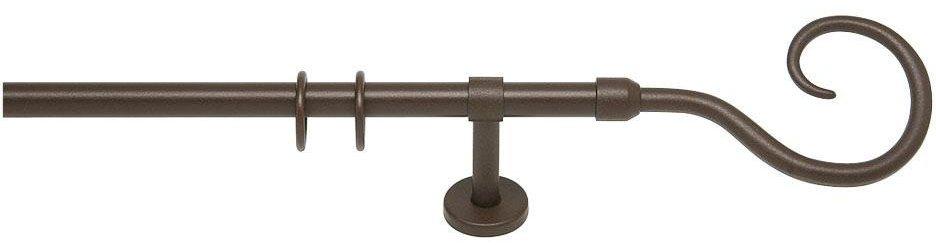Gardinenstange, indeko, »Spiral«, 1-läufig nach Maß ø 20 mm | Heimtextilien > Gardinen und Vorhänge > Gardinenstangen | Metall | indeko