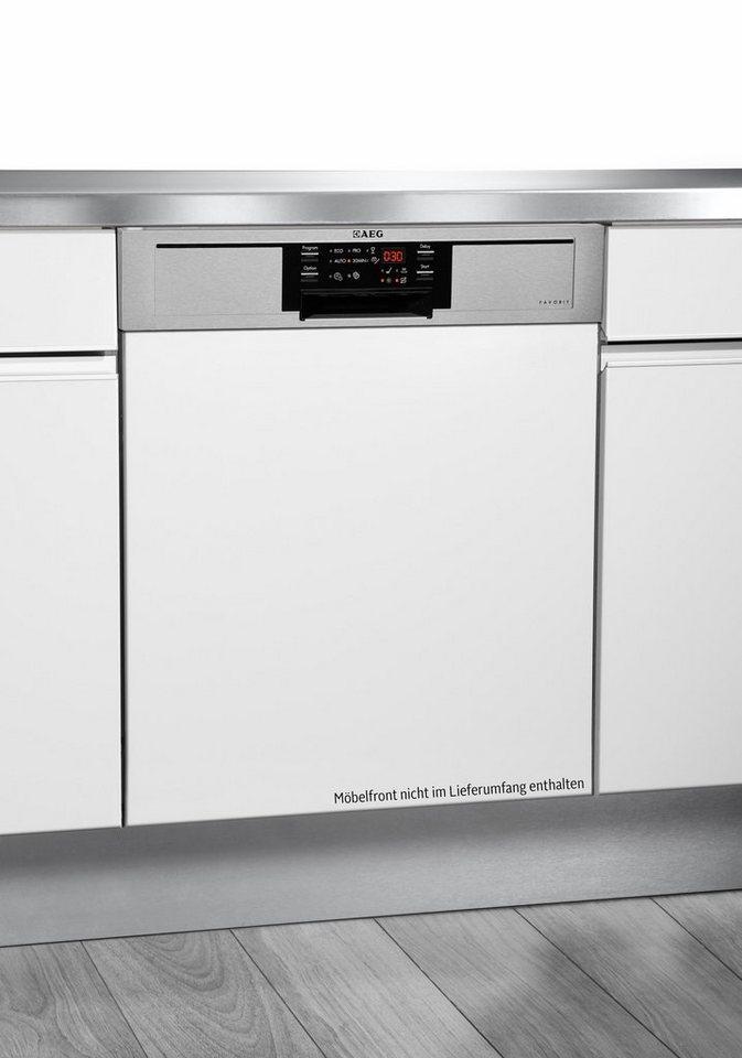 AEG Teilintegrierbarer Geschirrspüler Favorit F26302IM0, A++, 9,9 Liter, 13 Maßgedecke in silberfarben