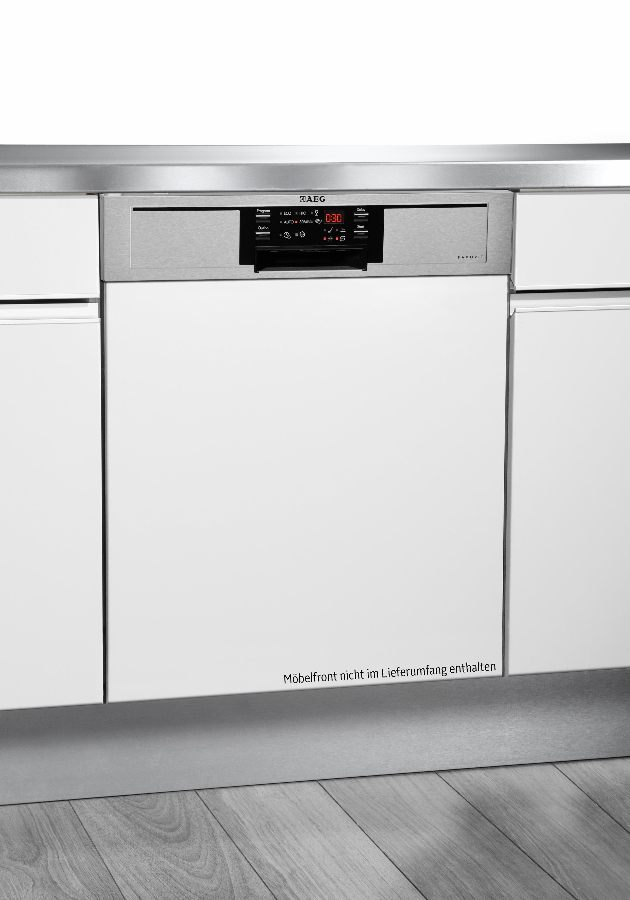 AEG Teilintegrierbarer Geschirrspüler Favorit F26302IM0, A++, 9,9 Liter, 13 Maßgedecke
