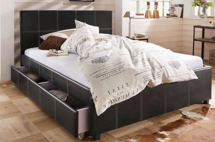 Home affaire Polsterbett »Maja«, in unterschiedlichen Bettgrößen, in zwei schönen Farbvarianten