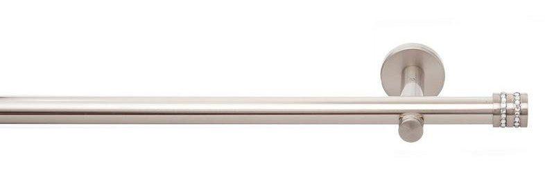 Gardinenstange, indeko, »Nizza«, 1-läufig nach Maß ø 20 mm ohne Ringe | Heimtextilien > Gardinen und Vorhänge > Gardinenstangen | Metall - Edelstahl | indeko