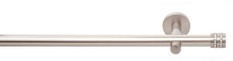 Gardinenstange, indeko, »Nizza«, 1-läufig nach Maß ø 20 mm ohne Ringe in edelstahloptik
