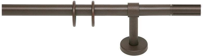 Gardinenstange, indeko, »Cross«, 1-läufig nach Maß ø 20 mm in rost