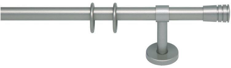Gardinenstange, indeko, »Verus«, 1-läufig nach Maß ø 20 mm in sterlingsilber
