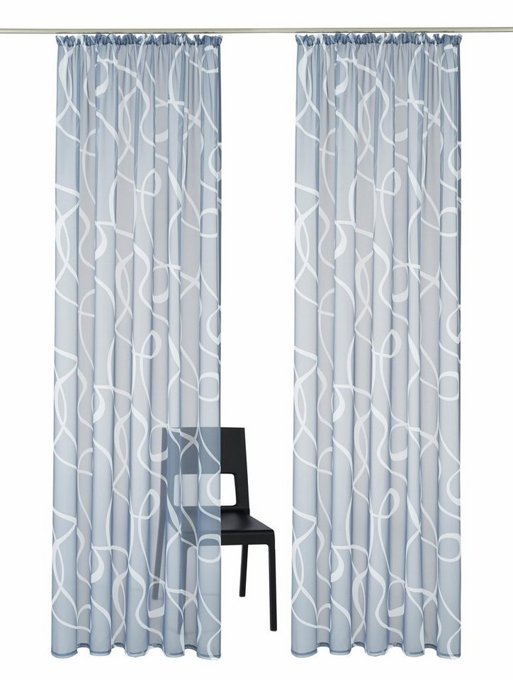 gardine my home cala mit kr uselband 2 st ck online. Black Bedroom Furniture Sets. Home Design Ideas
