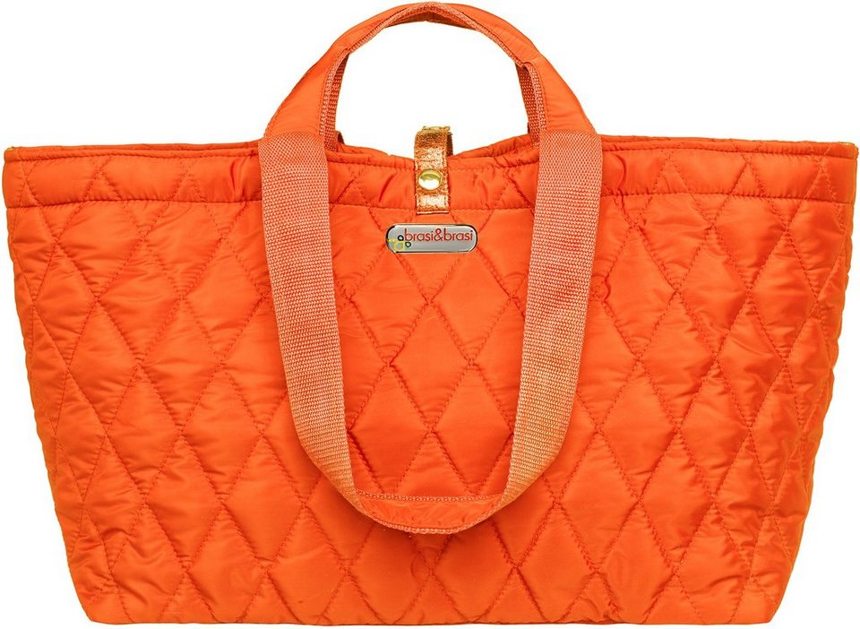brasi&brasi Weekender, »half&quilt« in orange