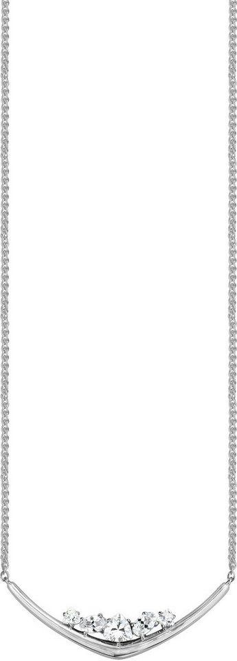 JOOP! Kette mit Anhänger mit Zirkonia, »JP-M SIMP, JPNL00004A420« in silberfarben