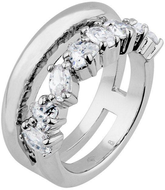 JOOP! Ring mit Zirkonia, »JP-M SIMP, JPRG00007A« in silberfarben