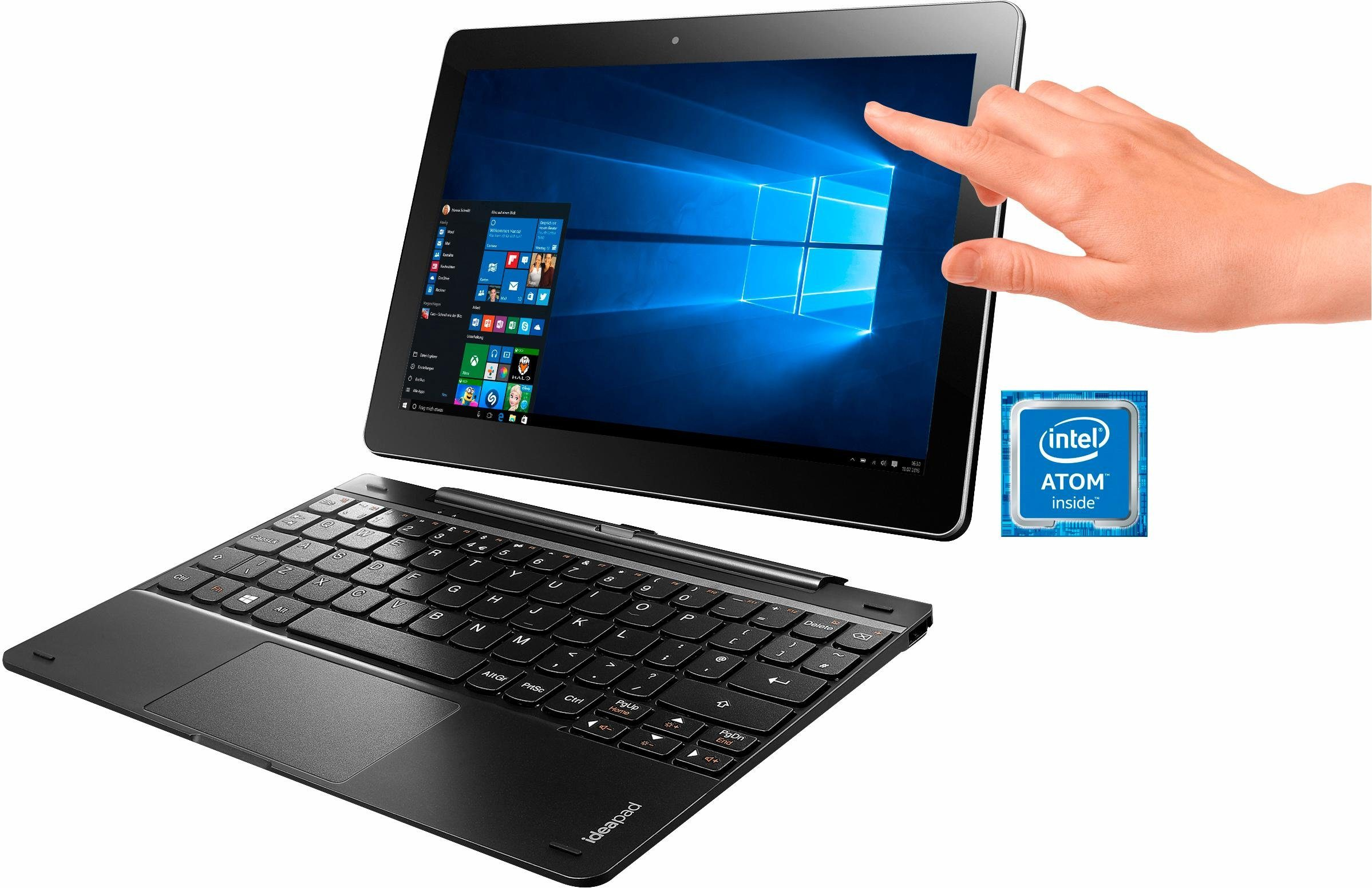 Lenovo MIIX 300-10IBY (80NR003CGE) Tablet-PC, Microsoft® Windows® 10 Home (32Bit), Intel Atom Z3735F