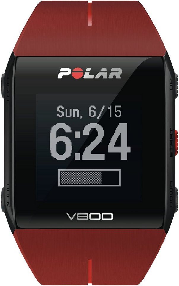Polar GPS-Sportuhr rot, »Polar V800 Red HR Special Edition« in rot