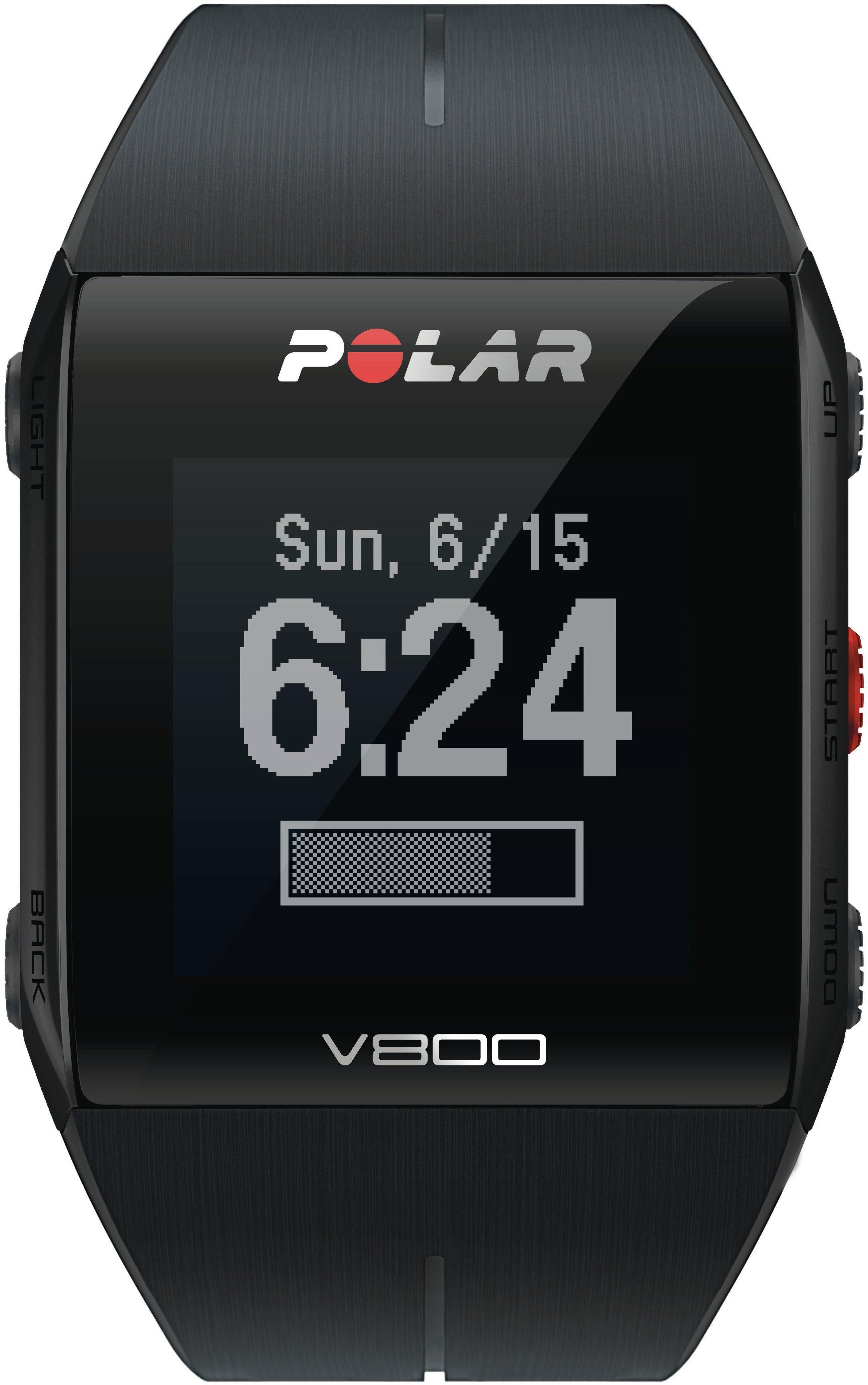 Polar GPS-Sportuhr schwarz, »Polar V800 Black HR Special Edition«