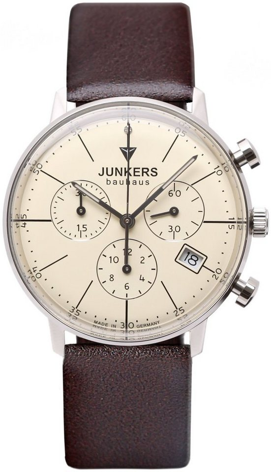Junkers-Uhren Chronograph »BAUHAUS, 6089-5« Made in Germany in braun