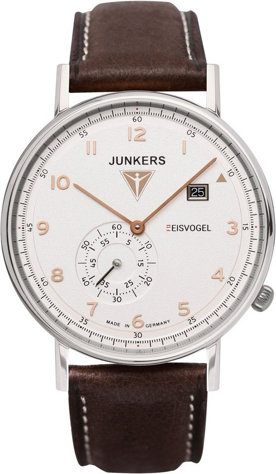 Junkers-Uhren Quarzuhr »EISVOGEL F13, 6730-4« Made in Germany in braun